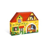Story-Box Bauernhof im Formkarton (Holz)