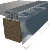 Attika Profil Seitenabschluss für Mendiger Profil 25my Polyester Höhe 50 mm