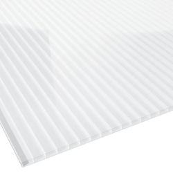 Stegplatte Polycarbonat 16 mm 980 mm breit glasklar beidseitiger UV Schutz
