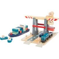 Container Terminal mit Zubehör