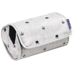 Dooky Arm Cushion - Babyschalentragepolster / Hellgraue Kronen