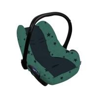 Dooky Seat Cover 0+ - Babyschalenbezug / Grüne Sterne