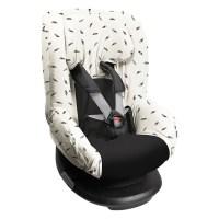 Dooky Seat Cover 1 - Auto-Kindersitzbezug Gruppe 1 /Schwarze Federn