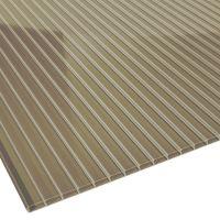 Doppelstegplatte Acrylglas bronze Stärke 16 mm Breite 0,98 m