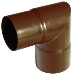 Fallrohrbogen 90 mm 90° für 125 mm Kunststoff Dachrinne