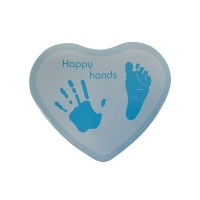 Happy Hands - Hand & Fußabdruckset / Herzform Blau