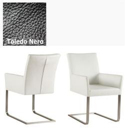 Freischwinger - Agio Leder Toledo schwarz ohne Griff von Kasper Wohndesign