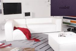 Ecksofa - Sofa Het Anker Leder Toledo violett Recamiere links Summer