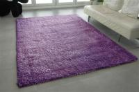 Langflor Shaggy Teppich dicke Fäden violett 200 x 300 cm