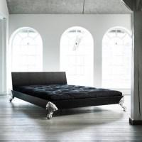 Karup EAGLE Massivholzbett Black Leather 140 x 200 cm