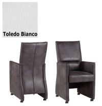 Designer Stuhl - Dublo Leder Toledo Bianco von Kasper Wohndesign
