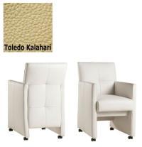 Designer Stuhl - Cross Leder Toledo Kalahari von Kasper Wohndesign