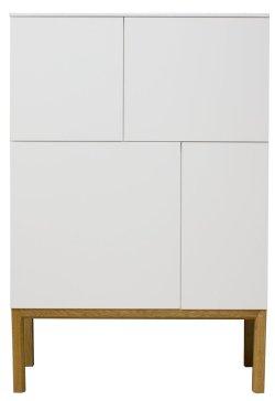Tenzo Designer Sideboard / Highboard PATCH weiß/eiche 2276-001