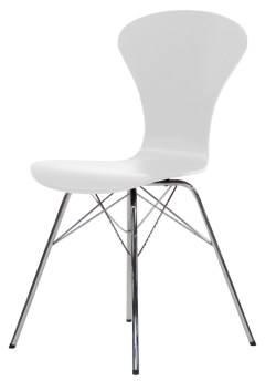 Tenzo Stuhl TEQUILA RIPO weiß/chrom 4er Set 9121-801