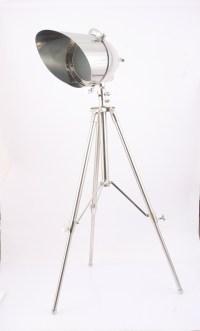 Standlampe Stehleuchte Stahl/Aluminium silber - LUMEN