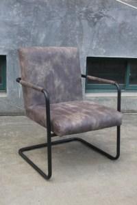 6x Stuhl Tesso Eszimmerstuhl Kunstleder Freischwinger grau
