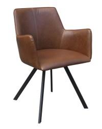 4x Stuhl Charles Esszimmerstuhl Kunstleder braun