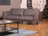 KAWOLA Sofa 2,5-Sitzer Deside Leder Pallino grau 205x100x82cm (B/T/H)