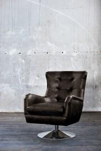 KAWOLA Sessel Relexa Leder schwarz B/H/T: 69x77x95cm