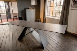 KAWOLA Esszimmertisch BENNO Tisch dunkelgrau