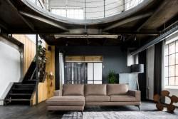 KAWOLA Sofa BLOOM Recamiere links Leder Retro taupe