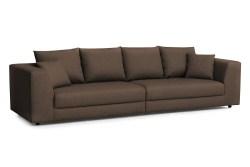 KAWOLA Big Sofa MERA XXL-Wohnlandschaft Stoff braun
