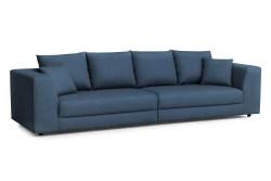 KAWOLA Big Sofa MERA XXL-Wohnlandschaft Stoff blau