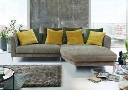 KAWOLA Ultrasofa LORY Sofa Recamiere rechts Stoff olivgrün