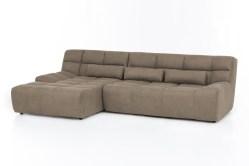 KAWOLA Ecksofa SETO Big Sofa Recamiere links Microfaser beige