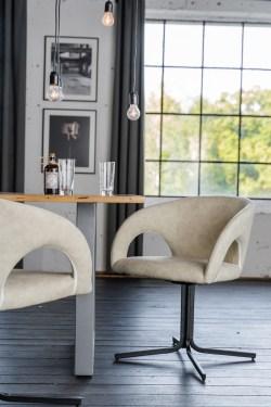 KAWOLA Besprechungsstuhl WICOS Stuhl Kunstleder beige