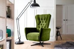 KAWOLA Funktionssessel CHARME Stoff Velvet green