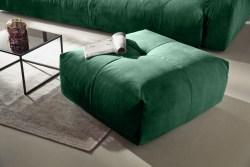 KAWOLA Hocker PALACE Polsterhocker velvet smaragd