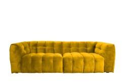 KAWOLA Sofa ROSARIO 4-Sitzer Stoff gelb