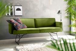 KAWOLA Esszimmerbank JASPER Stoff Velvet green 216cm