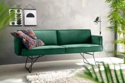KAWOLA Esszimmerbank JASPER Stoff Velvet smaragd 256cm