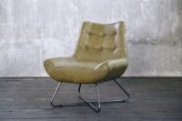 KAWOLA Sessel Snooze Leder olivgrün B/H/T: 82x93x76cm