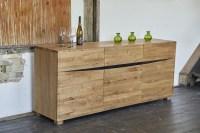 KAWOLA Sideboard YOSHA 3 Türen 1 Schublade Eiche (B/H/T) 200x50x85cm