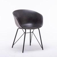 4x KAWOLA Stuhl DANI Esszimmerstuhl Vierfuß Kunstleder grau