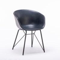 4x KAWOLA Stuhl DANI Esszimmerstuhl Vierfuß Kunstleder blau
