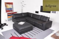 Ecksofa - Sofa Het Anker Leder Toledo hellgrün Armlehne rechts Lionel
