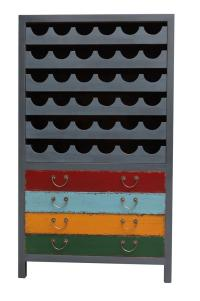 Kasper Wohndesign Bajazzo Weinregal grau - multicolor