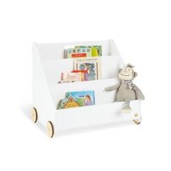 Kinder-Bücherregal mit Rollen 'Lasse'