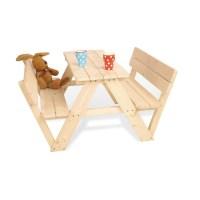 Kindersitzgarnitur 'Nicki für 4 mit Lehne', natur