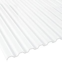 Lichtplatte 70/18 glasklar Polycarbonat Spundwandprofil Stärke 0,65 mm Breite 0,90 m