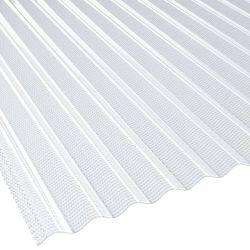 Lichtplatte 76/18 Acrylglas Sinus Wabenstruktur Stärke 3 mm Breite 1,045 m glasklar