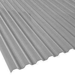 Lichtplatte 76/18 silber-metallic Polycarbonat Spundwand Stärke 1,1 mm Breite 1,265 m