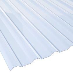 Lichtplatte PVC 20/138LR für Dachprofil Stärke 1,4 mm Breite 1,14 m glasklar-bläulich