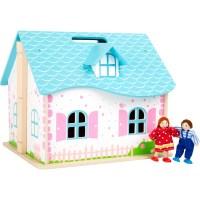 Puppenhaus zum Aufklappen