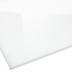 Stegplatte Polycarbonat 16 mm 1200 mm breit glasklar X Struktur