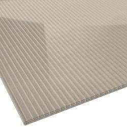 Stegplatte Polycarbonat, bronze ca. 38% Lichtdurchlass, Stärke 16, mm Breite 1,2 m